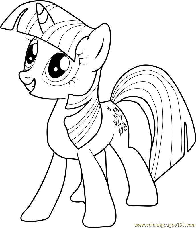 Twilight sparkle coloring page free my little pony for Twilight sparkle coloring page