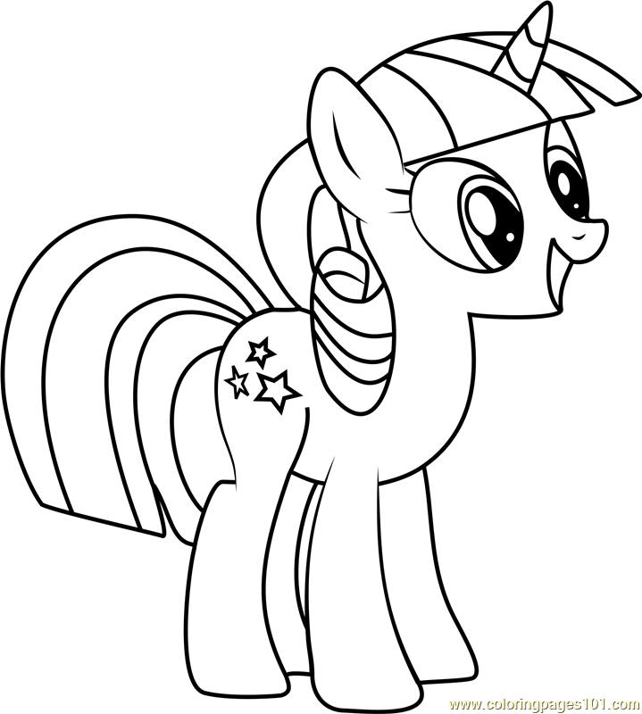 Twilight Velvet Coloring Page