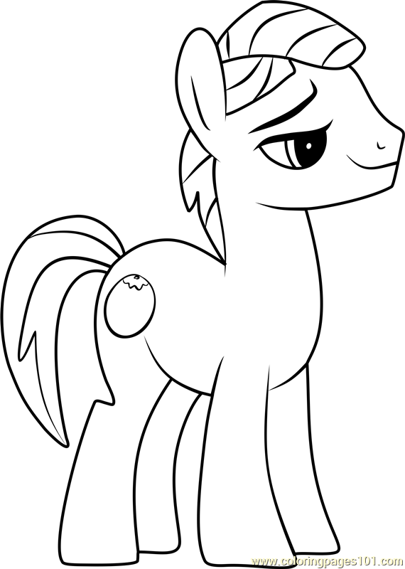 Uncle Orange Coloring Page Free My Little Pony