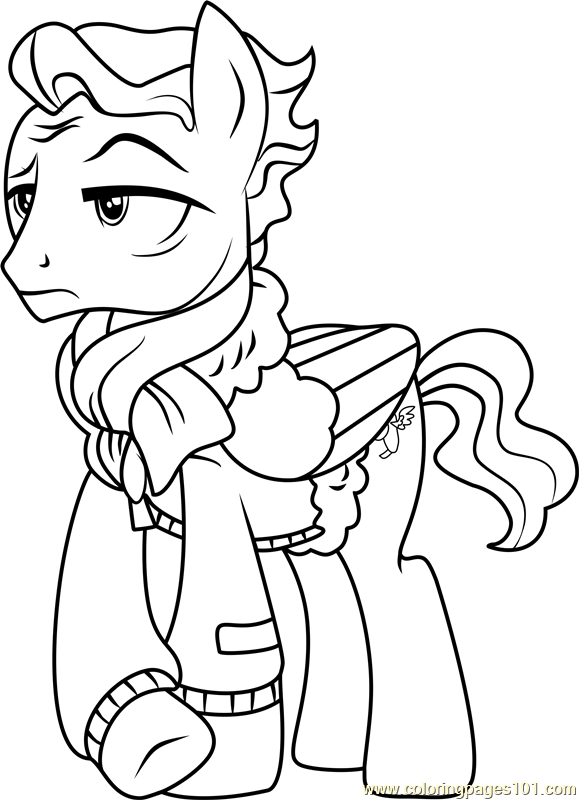 Wind Rider Coloring Page