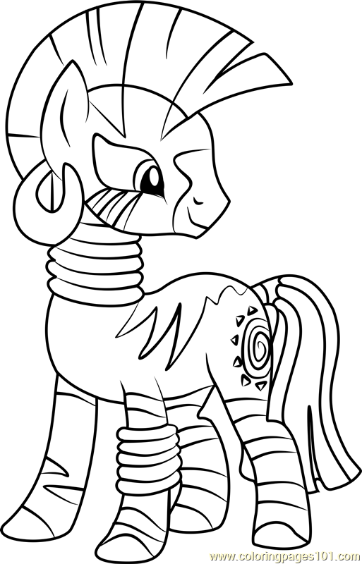 Zecora Coloring Page - Free My Little Pony - Friendship Is Magic ...