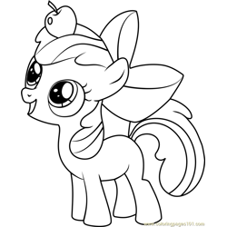 Apple Bloom Free Coloring Page for Kids