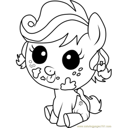 Applejack Infant Free Coloring Page for Kids