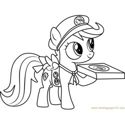 Filly Guides Free Coloring Page for Kids