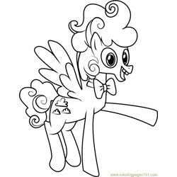 Fluffy Clouds Free Coloring Page for Kids