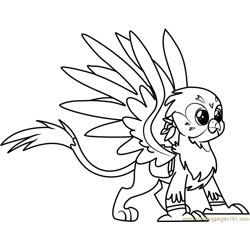 Gabby Free Coloring Page for Kids