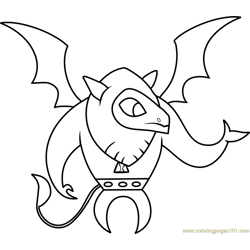 Gargoyle Free Coloring Page for Kids