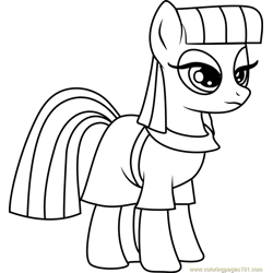 Maud Pie Free Coloring Page for Kids