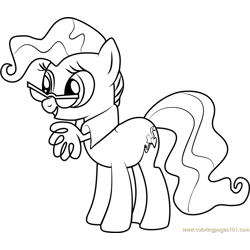 Mayor Mare Free Coloring Page for Kids