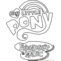 My Little Pony - Friendship Is Magic Logo Free Coloring Page for Kids