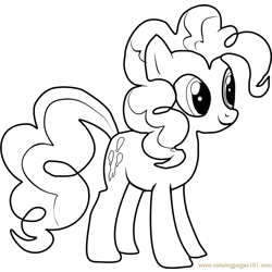 Pinkie Pie Free Coloring Page for Kids