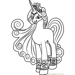 Princess Amore Free Coloring Page for Kids