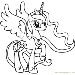 Princess Luna Free Coloring Page for Kids