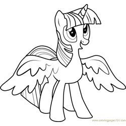 Princess Twilight Sparkle Free Coloring Page for Kids