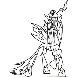 Queen Chrysalis Free Coloring Page for Kids