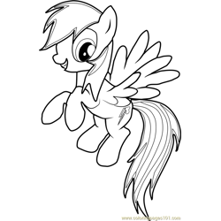 Rainbow Dash Free Coloring Page for Kids