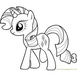 Rarity Free Coloring Page for Kids