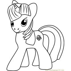 Sapphire Shores Unicorn Free Coloring Page for Kids