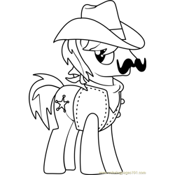 Sheriff Silverstar Free Coloring Page for Kids