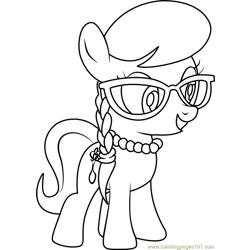 Silver Spoon Free Coloring Page for Kids