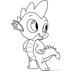 Spike Free Coloring Page for Kids