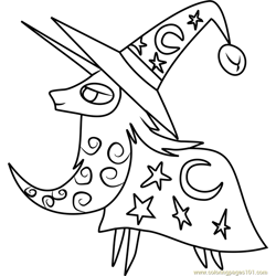 Star Swirl the Bearded Free Coloring Page for Kids