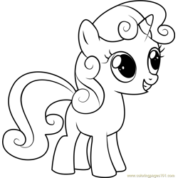 Sweetie Belle Free Coloring Page for Kids