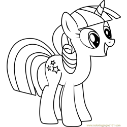 Twilight Velvet Free Coloring Page for Kids