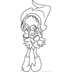 Cute Ojamajo Doremi Free Coloring Page for Kids