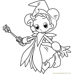 Doremi Going Free Coloring Page for Kids