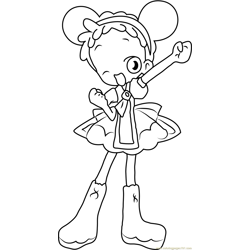 Doremi Harukaze Fan Free Coloring Page for Kids