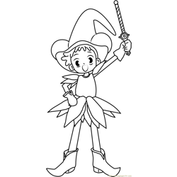Magical Doremi Ready to Fight Free Coloring Page for Kids