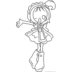 Magical Doremi Free Coloring Page for Kids