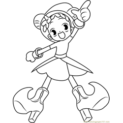 Ojamajo Doremi Free Coloring Page for Kids
