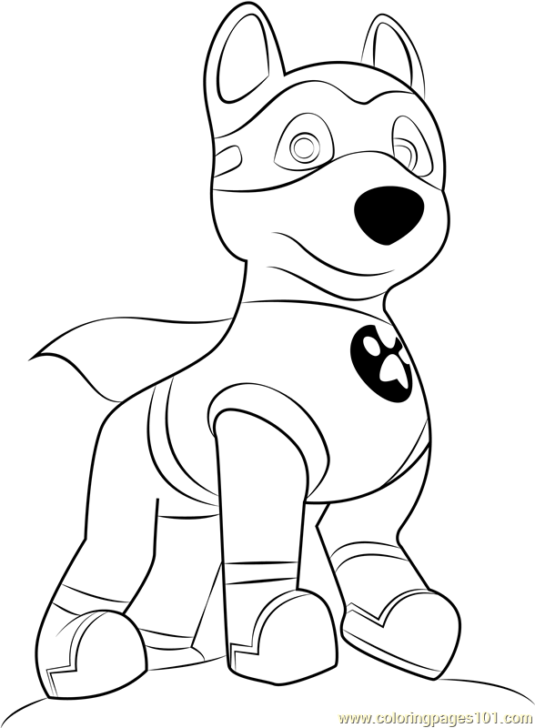 Apollo The Super Pup Coloring Page Free Paw Patrol