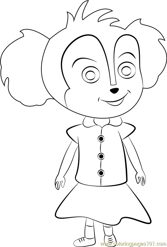 Baby Mer Pup Coloring Page