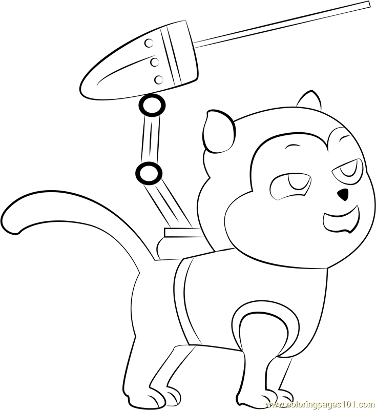 Cat Chase Coloring Page - Free PAW Patrol Coloring Pages :  ColoringPages101.com