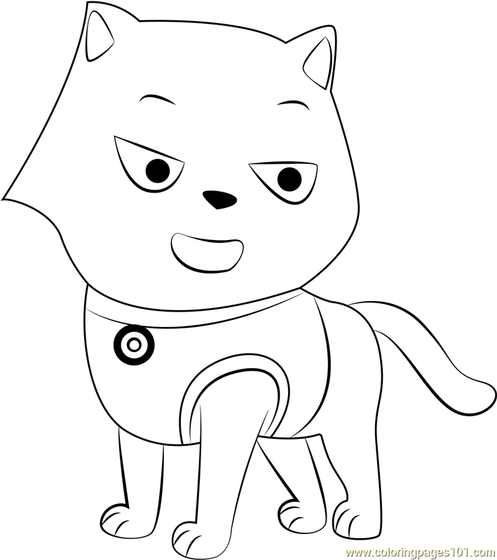 Cat Marshall Coloring Page
