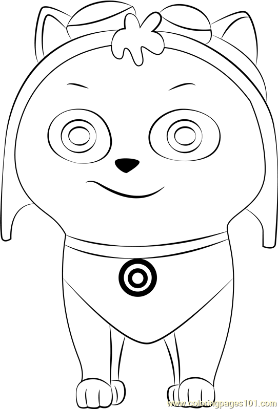 Cat Skye Coloring Page Free Paw Patrol Coloring Pages