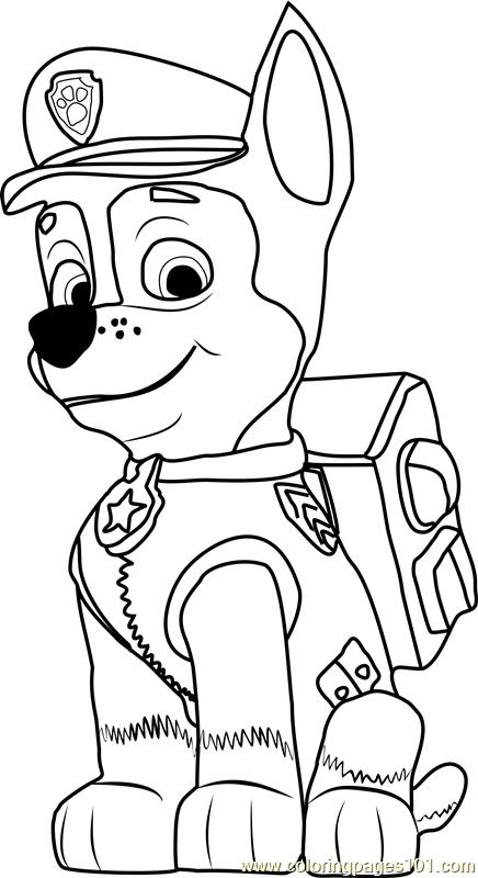 Chase Coloring Page Free Paw Patrol Coloring Pages