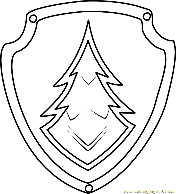 Everest Badge Coloring Page Free Paw Patrol Coloring
