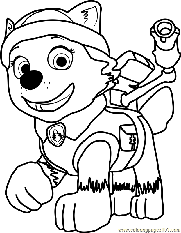 Everest Coloring Page Free Paw Patrol Coloring Pages