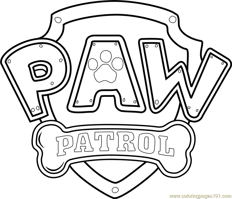 Paw Patrol Logo Coloring Page Free Paw Patrol Coloring Pages Coloring Pages Paw Patrol