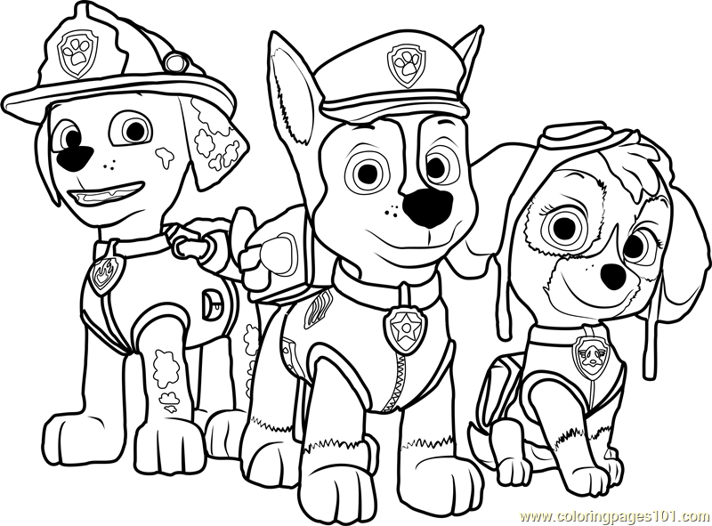 Coloring Pages Of Paw Patrol : Paw patrol coloring page free pages