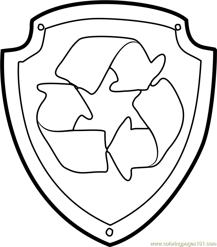 Rocky Badge Coloring Page Free Paw Patrol Coloring Pages