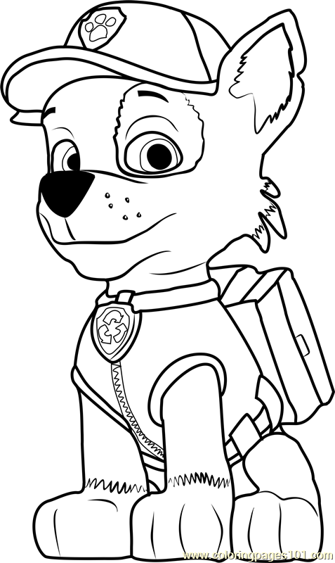 Rocky Coloring Page Free Paw Patrol Coloring Pages