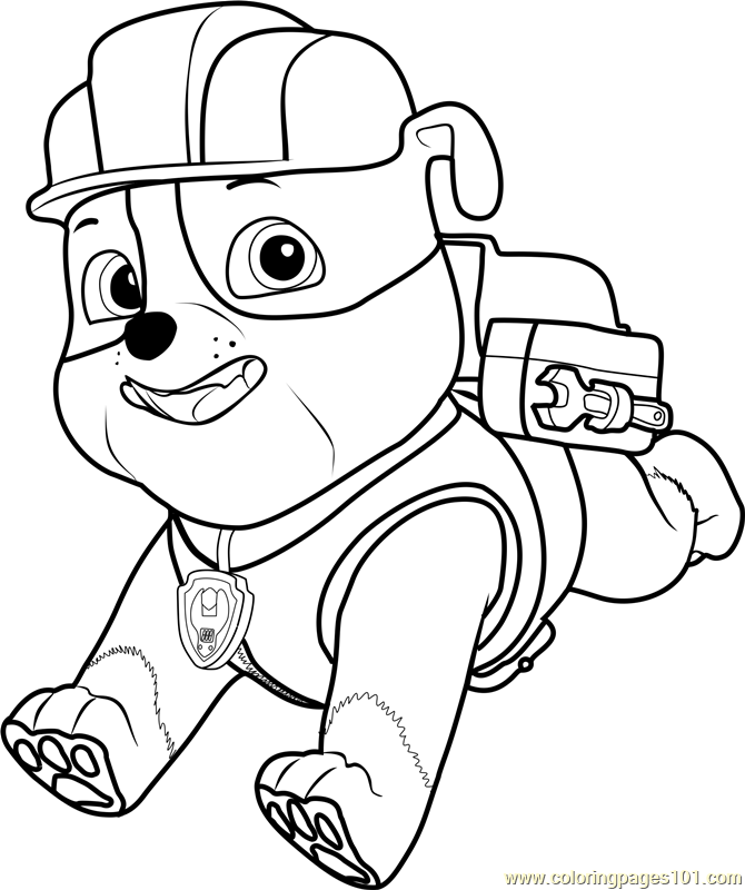Paw Patrol Cartoon Coloring Pages : Rubble coloring pages printable