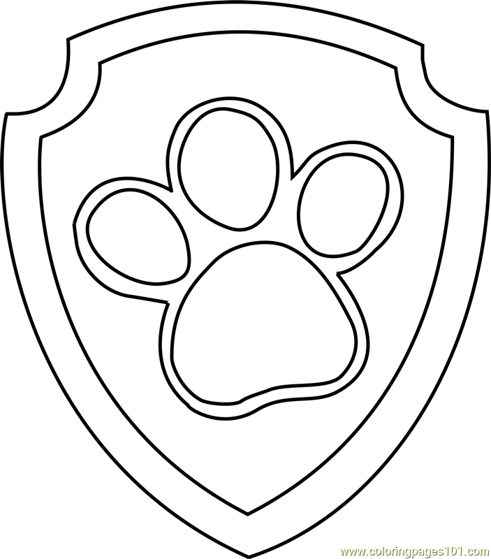Paw Patrol The New Pup Coloring Pages : Skye paw patrol badge coloring pages