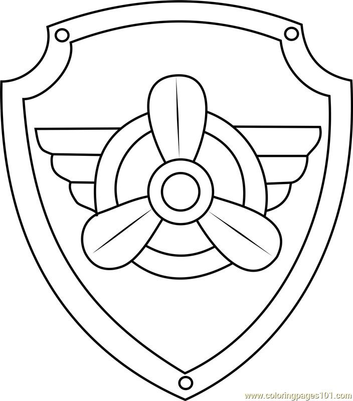 Skye Badge Coloring Page - Free PAW Patrol Coloring Pages ...