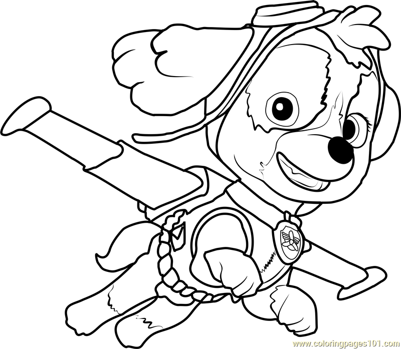 Skye Coloring Page Free PAW Patrol Coloring Pages